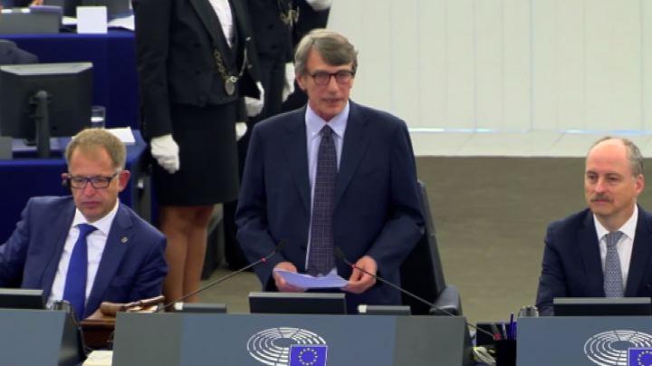 David Sassoli eletto Presidente del Parlamento europeo - Il video ...